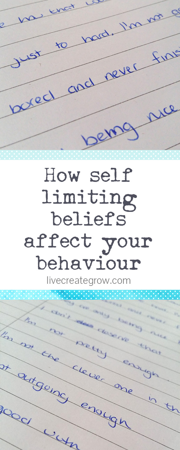 self limiting beliefs affect behaviour