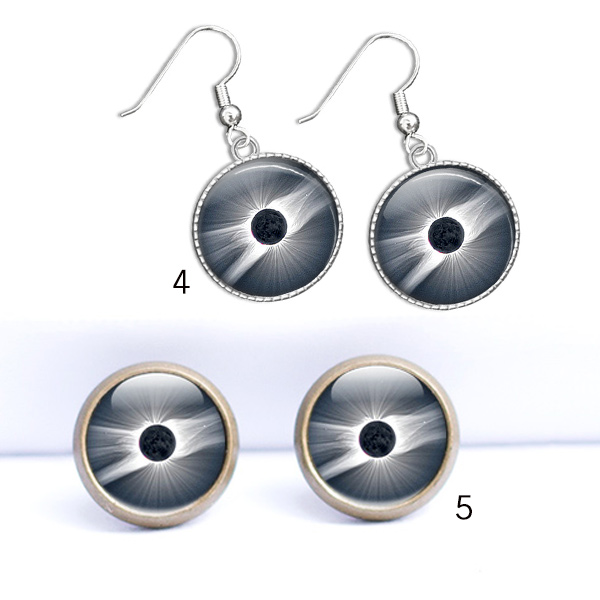 Solar Eclipse Earrings Jewelery